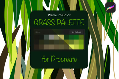 Procreate palette. Grass