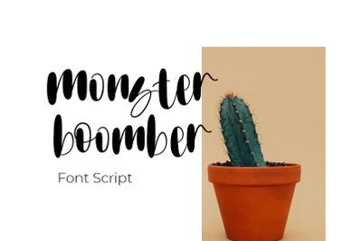 Monster boomber font script