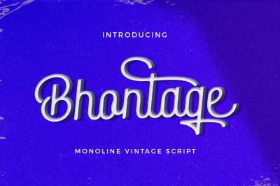 Bhontage Monoline Script