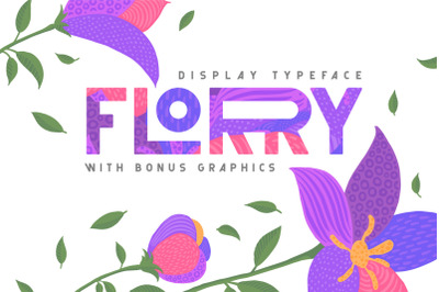 Florry font & illustrations