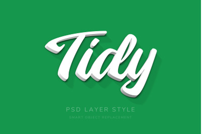 3D White Text Style Premium PSD