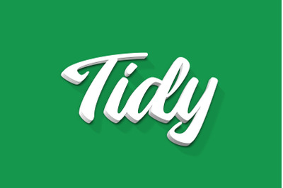 Tidy - 3D Text Style Effect PSD
