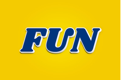 Fun - 3D Text Style Effect PSD