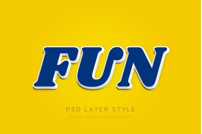 3D Blue Text Style Effect Premium PSD