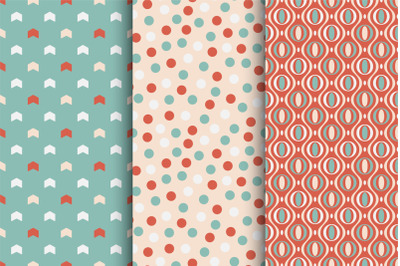 Colorful seamless cute patterns