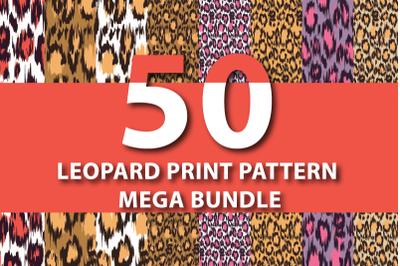 50 Leopard Print Patterns Mega Bundle 30% Off