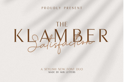 KLAMBER SATISFACTION FONT DUO
