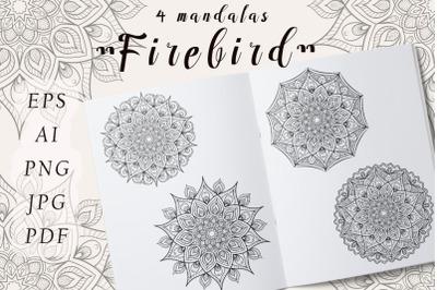 "Vector Mandala ""Firebird"""