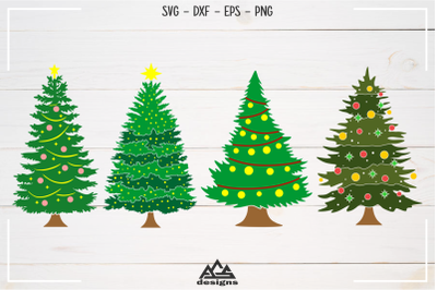 Christmas Tree Packs Svg Design