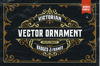 Victorian Ornaments Vector + Bonus