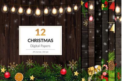 Christmas Lights Digital Paper