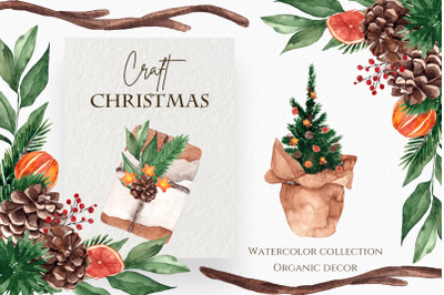 Craft Christmas. Organic decor