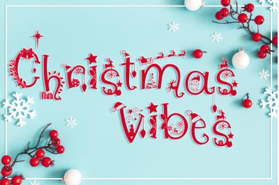 Christmas Vibes Font Fmily