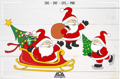 Cute Santa Christmas Svg Design