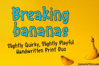 Breaking Bananas Print Duo