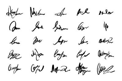 Unreadable handwriting font signature text