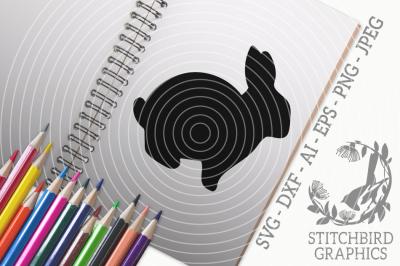 Rabbit 2 SVG, Silhouette Studio, Cricut, Eps, Dxf, AI, PNG, JPEG