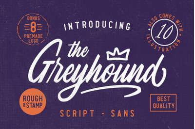 The Greyhound - Font Duo (+BONUS)