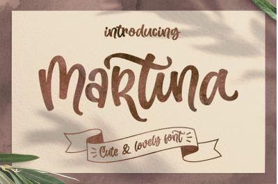 Martina - Unique Script Font