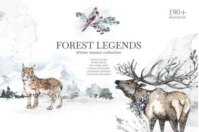 """""""Forest Legends""""  Winter animals set"""