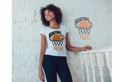 Basketball Life SVG, DXF, and EPS Files for Cutting Ma