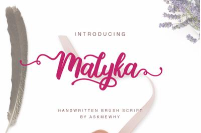Malyka - Brush Script Font