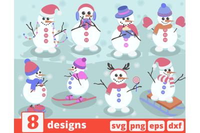 Snwomen SVG bndle | Cristmas | Snowman clipart | New year | Winter