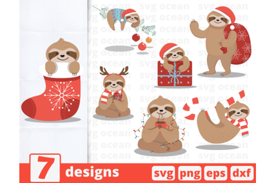 Christmas sloth | Lazy christmas | Sloths | Scarf | Sock | Gifts