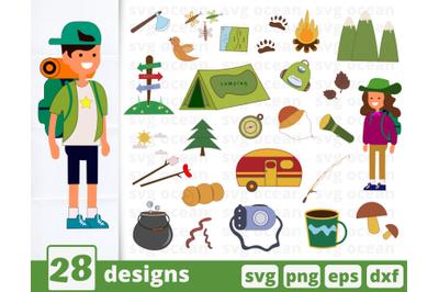 Camping SVG bundle | Camper | Camping truck | Tent | Adventure