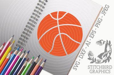 Basketball 1SVG, Silhouette Studio, Cricut, Eps, Dxf, AI