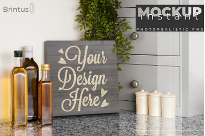Instant mockup Wood Sign Kitchen Cutting Board