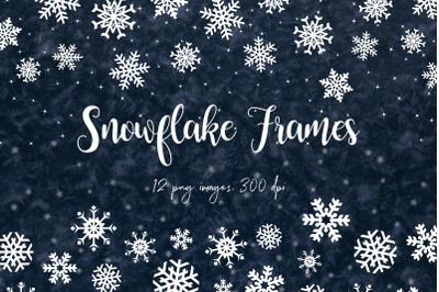 Snow Digital Borders - Winter Frames