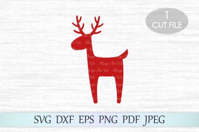 Reindeer svg, Deer svg file, Christmas reindeer svg, Christmas svg