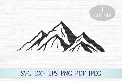 Mountain svg, Mountains svg file, Mountain clipart, Camping svg