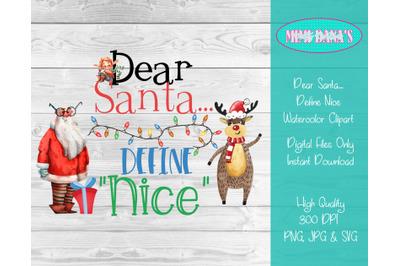 Dear Santa...Define Nice Clipart