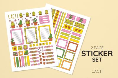 Cacti Sticker Set