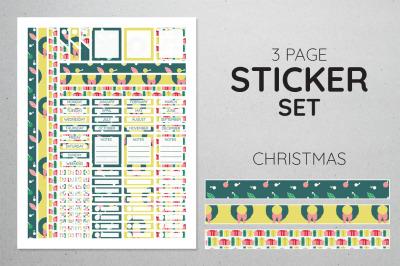 Planner Sticker Set - Christmas