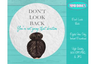 Don't Look Back  Door Hanger Clipart