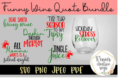 Funny Wine Glass Quote Bundle SVG