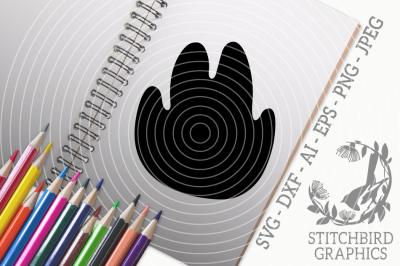 Dino Foot Print 2 SVG, Silhouette Studio, Cricut, Eps, Dxf, AI, PNG, J