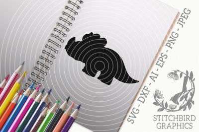 Triceratops Silhouette SVG, Silhouette Studio, Cricut, Eps, Dxf, AI