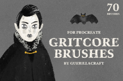 Gritcore Brushes for Procreate