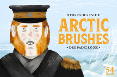Arctic Dry Brushes for Procreate