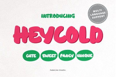 HEYCOLD CUTE FONT