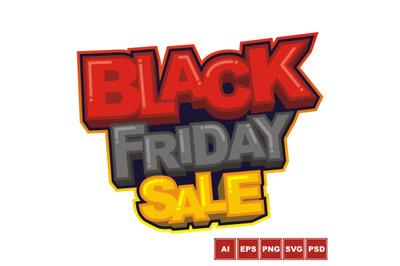 Black Friday Sale Logo Design
