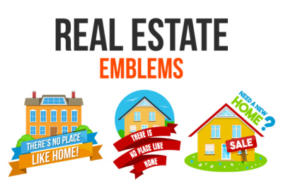 Real Estate Emblem Set