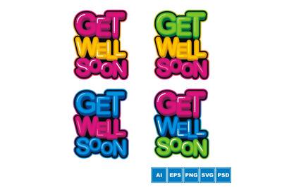 Get Well Soon - Vector Set