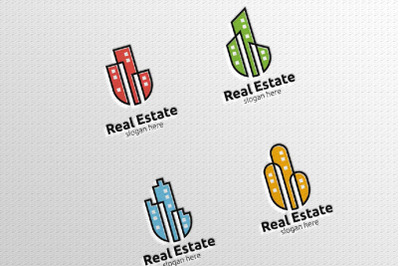 Real Estate Vector Logo Design with Home and Check Logo 11