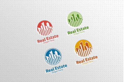 Real estate Vector Logo Design, Abstract Building and Home 2
