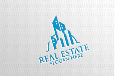 Real estate Vector Logo Design, Abstract Building and Home 3
